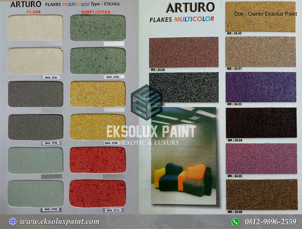 contoh cat tekstur arturo jakarta