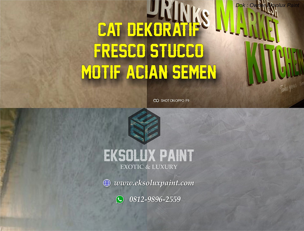 cat dekoratif fresco stucco