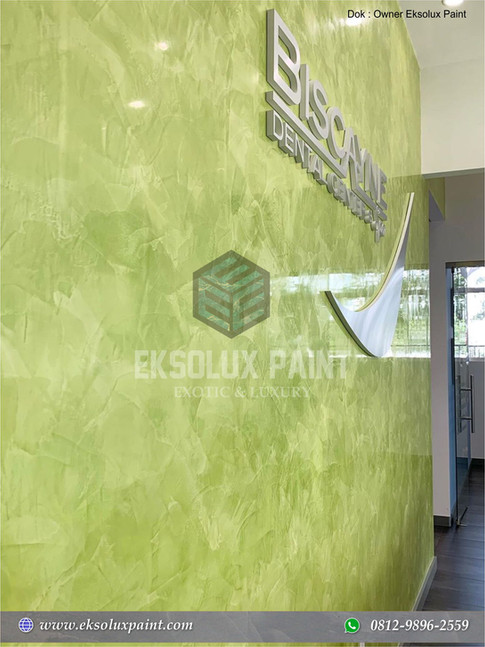 stucco venetian warna hijau