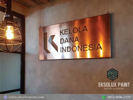Project Dinding Industrial : Wash Paint Semen Ekspos Kantor Kelola Dana Indonesia, Jakarta Selatan