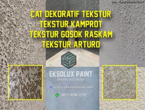 Contoh Dinding Menggunakan Cat Tekstur