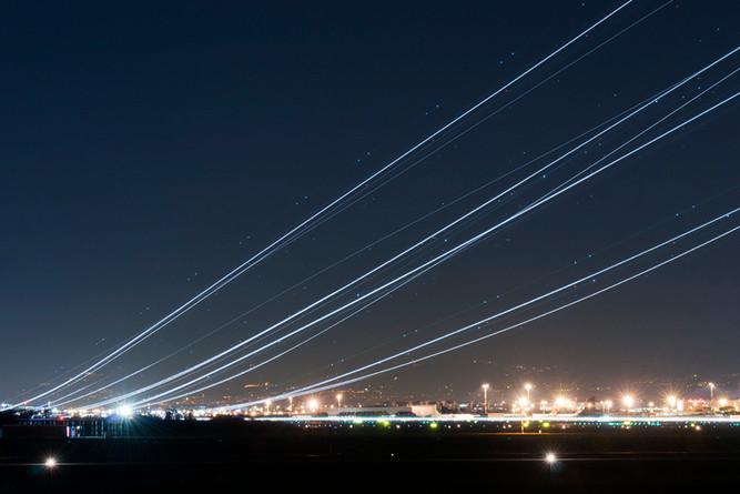Night shotting take off runway 25 FCO