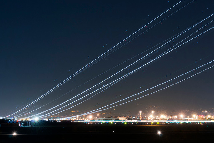 Night shotting take off runway 25 FCO