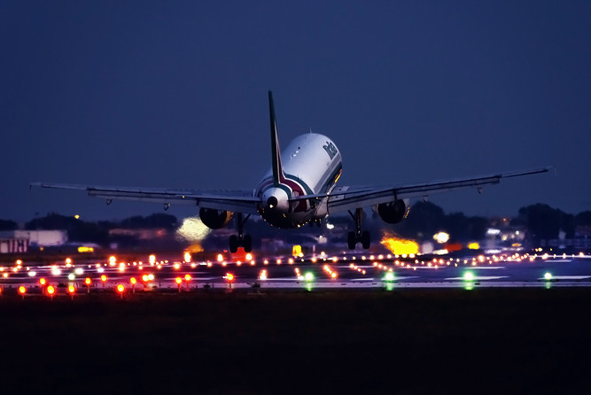Landing into the night
