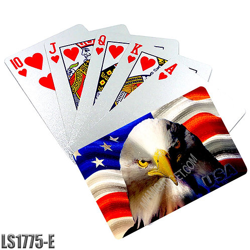 American Eagle Playing Cards-Silver