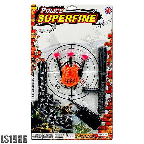 Police Gun Kit with Soft Bullets - 7 PCS Shooting Set