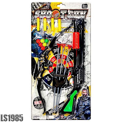Shotgun & Arrow with Soft Bullets - 15 PCS Shooting Set