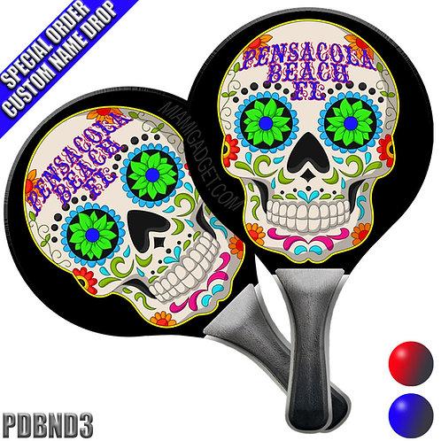 Paddle Ball Set - Candy Skull