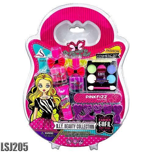 Beauty World - Nail Polish, Lip Gloss & Eyeshadow Palette - 6 Pcs. Cosmetic Set
