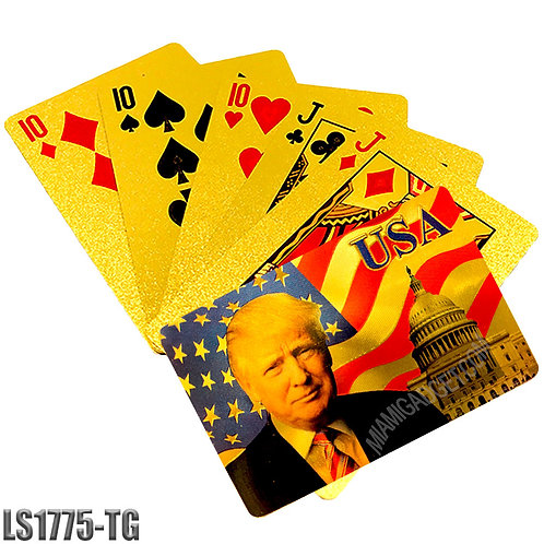 President Playing Cards-Gold