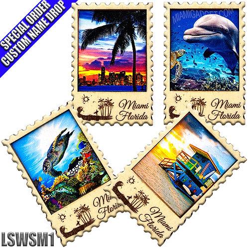 Wood Stamp Magnet