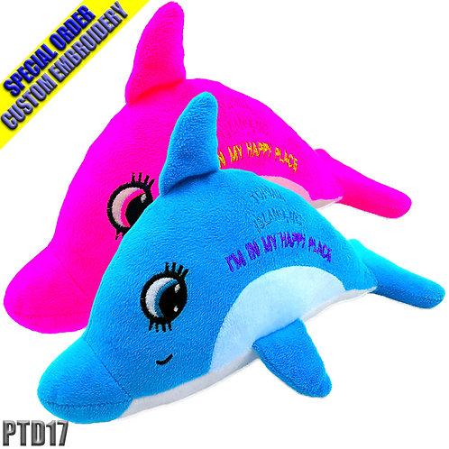 "Dolphin Plush 17"""