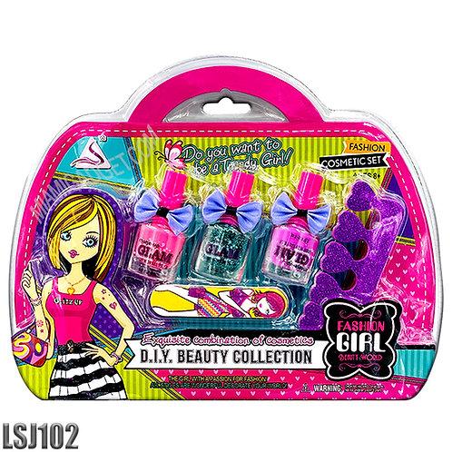 Beauty World - Nail Polish - 5 Pcs. Cosmetic Set