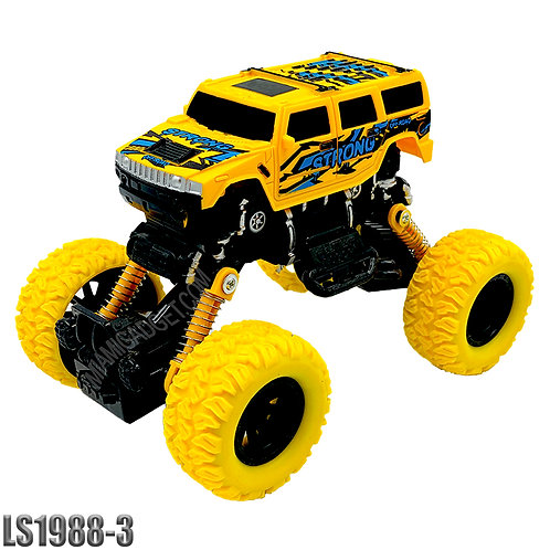Monster Truck/ATV 4x4 Pull Back -Solid Colors  XL