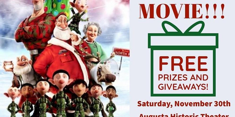 Shop Small - Free Family Movie - Arthur Christmas