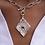 Thumbnail: Handmade Coral Diamond-Shaped Necklace