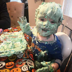 So we used shaving cream to dye eggs....