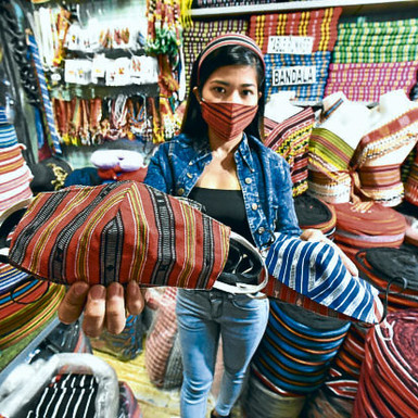 "Des masques de protection ""made in"" Ifugao"