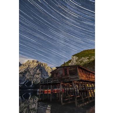 Star Trail Lago di Braies