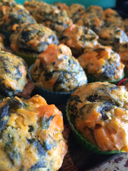 Spinach and Roast Sweet Potato