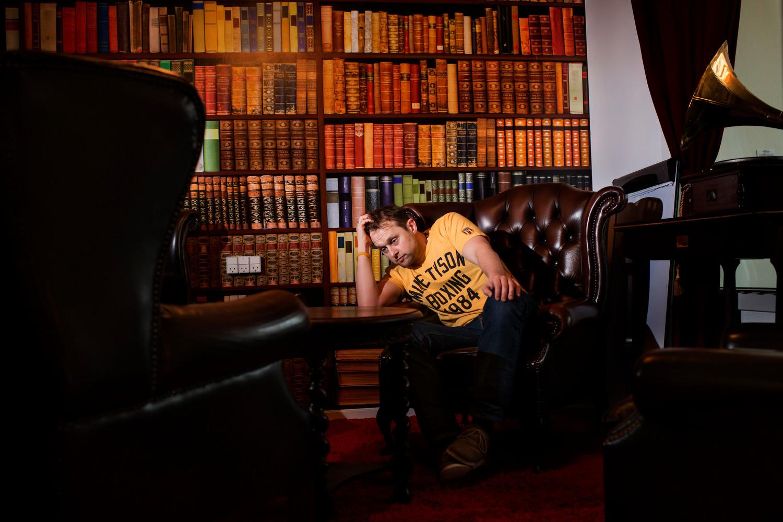 Danish comedian Geo. Shot for Berlingske.