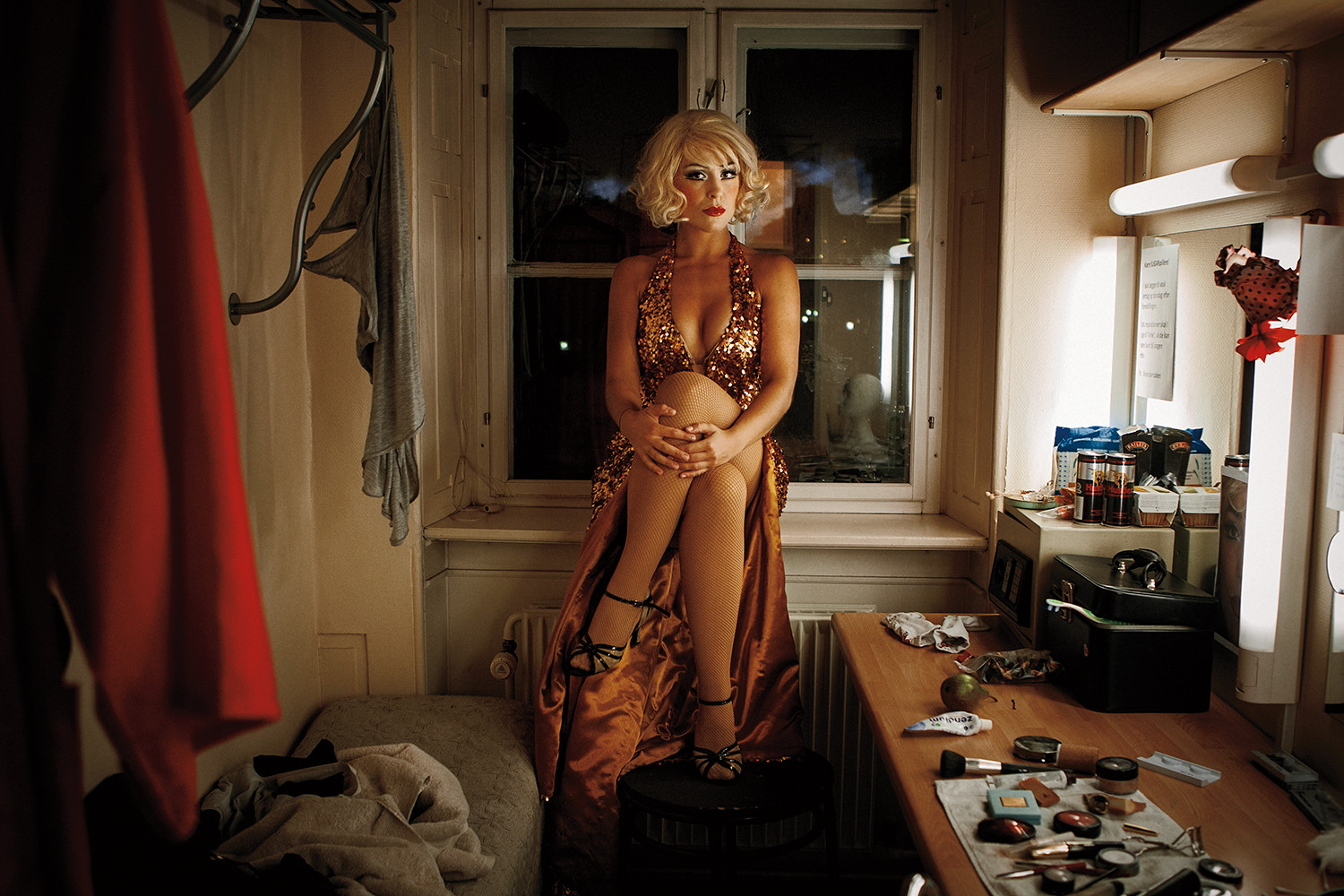 Maria Lucia Heiberg Rosenberg. Danish singer and actor while playing her role as Marilyn Monroe. Shot for BT.