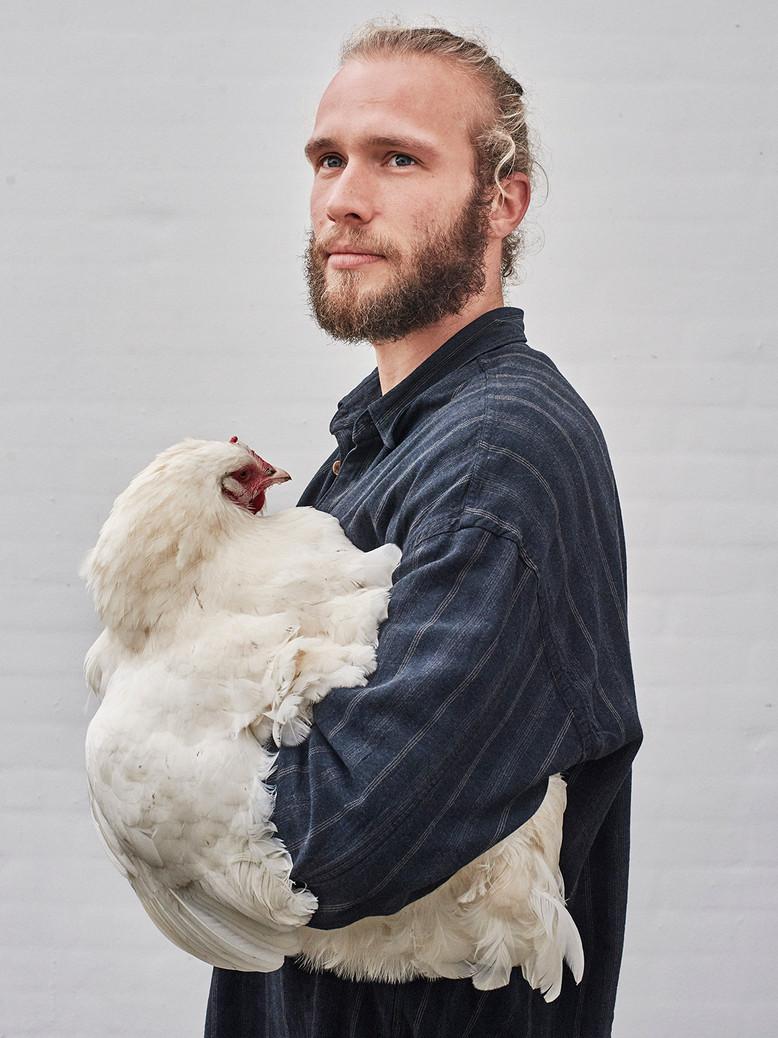 Organic farmer Michel Poulsen. Shot for Zetland.