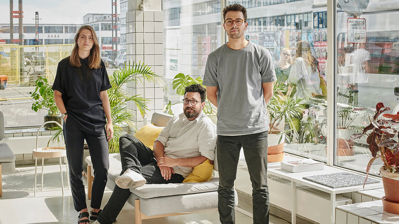 Creative Director Kaave Pour, Strategy Director Guillaume Charny-Brunet and Project Lead Jamiee Williams from Space10 - a future living lab based in Copenhagen.