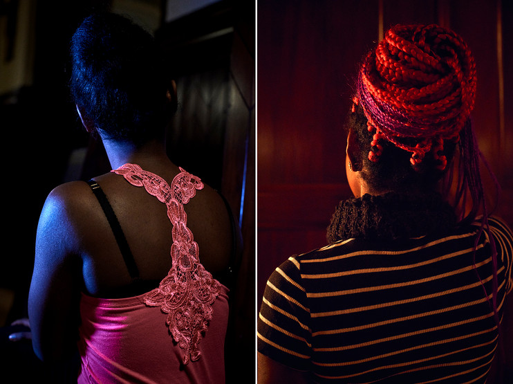 Anonymous Nigerian prostitutes. Shot for Kristeligt Dagblad