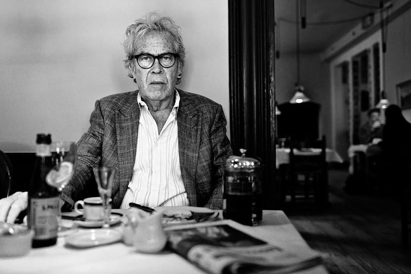 Jørgen Leth. Danish poet, filmaker and cycling commentator. Shot for Berlingske.