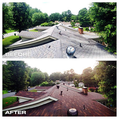 Before/After Roofing Picture