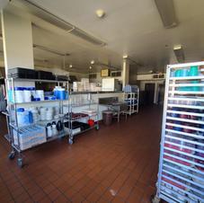 Kitchen dish storage area