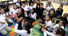 Student storytellers from Folwell School, Minneapolis