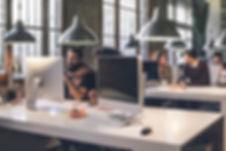 Website deigners working in an office