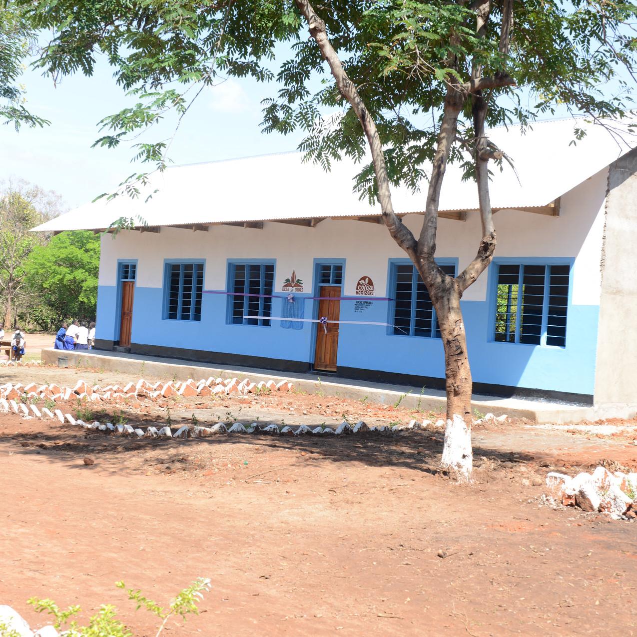 新設した教室(外観)