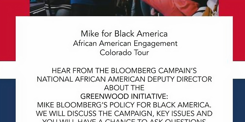 Mike for Black America African American Engagement Colorado Tour