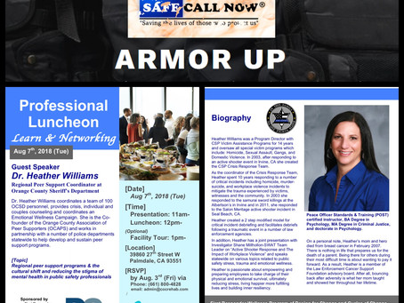 Safe Call Now Hosts Free Networking Luncheon