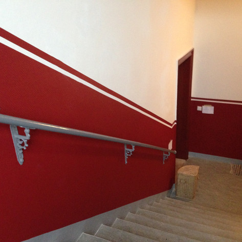 Treppenhaus Anstrich