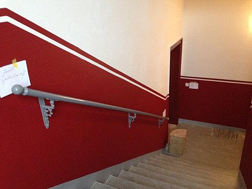 Treppenhaus Streichen  badezimmer & Wohnzimmer