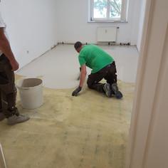 Spachtelarbeiten Großraumbüro in Dresden