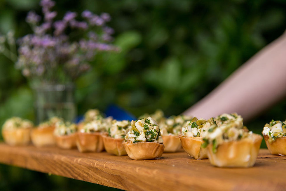 Canapes from The Artichoke Kitchen