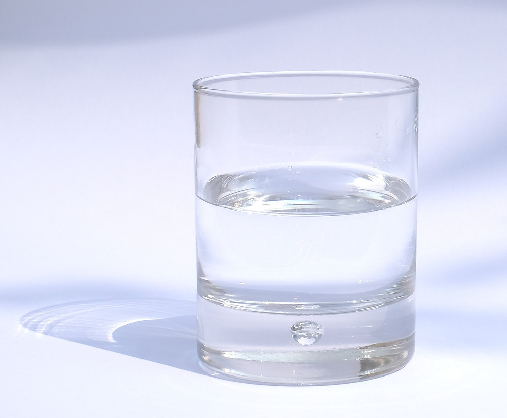 Glass of water, reflections, mindfulness blog