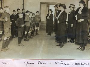 St Thomas' Hospital, London, 1921, speech-therapy