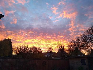 Beautiful sky, Brockham Surrey