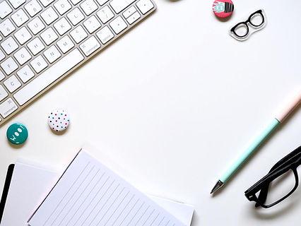 Mindfulness at work, calm desk