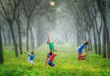 Children playing in Surrey
