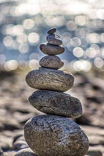 Mindfulness meditation stone tower