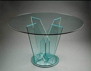 Стол стеклянный, технология УФ склейка