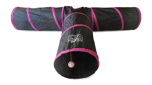 PINK Premium Extra LARGE and Extra LONG 3 Way Cat Tunnel for Small Animals