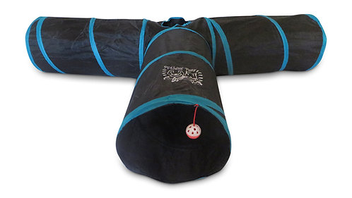 Premium Extra LARGE and Extra LONG 3 Way Cat Tunnel Toy for Small Animals